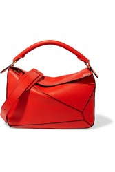Loewe Puzzle Leather Shoulder Bag Red