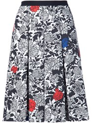 Sophie Theallet Garden Print Pleated Skirt Red