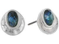 The Sak Scoop Color Stud Earrings Abalone Earring Beige