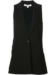 Elizabeth And James Single Button Waistcoat Black
