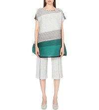 Issey Miyake Alt Colours Pleated Top Green