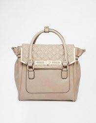 New Look Backpack With Quilted Detail Mink