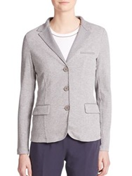 Peserico Knit Blazer Light Grey