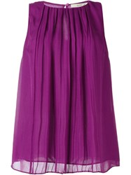 Etro Pleated A Line Top Pink And Purple