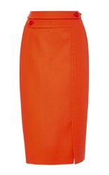 Dice Kayek Midi Length Pencil Skirt Orange