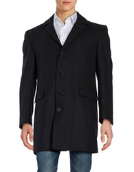Calvin Klein Wool Blend Peacoat Black