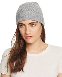 Bloomingdale's C By Waffle Knit Cashmere Hat Pale Gray