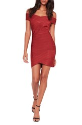 Missguided Women's Off The Shoulder Bandage Minidress