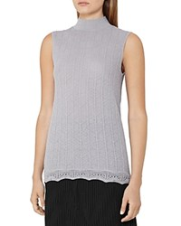 Reiss Anni Knit Sleeveless Top Gray