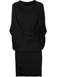 Bernhard Willhelm Draped Jersey Dress Black