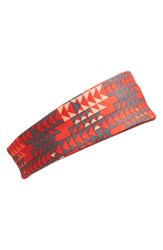 Zella 'Zeltek' Reflective Headband Red Blaze Run Geo Print