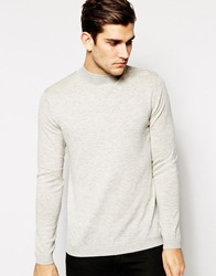 Asos Merino Turtle Neck Jumper Lightgrey