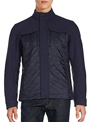 Michael Kors Long Sleeve Quilted Jacket Midnight