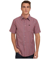 Matix Clothing Company Strata Short Sleeve Woven Top Red Men's Short Sleeve Button Up
