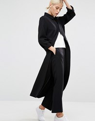 Monki Duster Coat Black