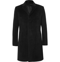 Theory Delancey Brushed Alpaca And Wool Blend Coat Black