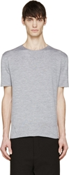 Yang Li Heather Grey Knit T Shirt