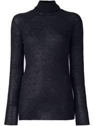Haider Ackermann Turtleneck Ribbed Jumper Black