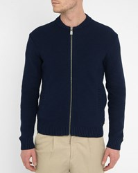 Eleven Paris Navy Ragic Bubble Knit Cardigan