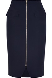 Matthew Williamson Crepe Pencil Skirt Blue