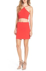 Leith Women's Cutout Crop Halter Top