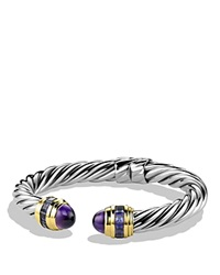 David Yurman Renaissance Bracelet With Amethyst Iolite And Gold Silver Multi