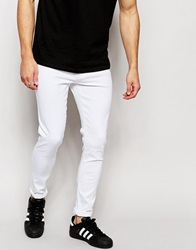 Brooklyn Supply Co. Brooklyn Supply Co Jeans Spray On Super Skinny Fit White