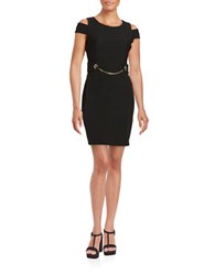 Jessica Simpson Cold Shoulder Sheath Dress Black