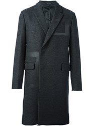 Emporio Armani Panelled Coat Grey