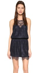 David Lerner Lace Dress Dark Navy