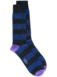 Paul Smith Striped Socks Blue