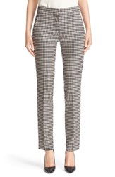 Max Mara Women's 'Pio' Check Stretch Wool Flannel Ankle Pants