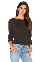 Atm Anthony Thomas Melillo Unfinished Hem Sweatshirt Charcoal