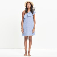 Madewell Striped One Shoulder Dress