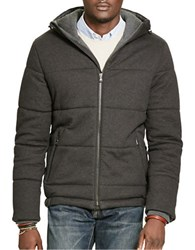 Polo Ralph Lauren Quilted Cotton Blend Jacket With Hood Grey