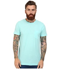 French Connection Loose Knit Jersey Tee Aqua Sky Men's T Shirt Blue