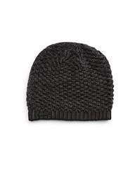 Calvin Klein Two Tone Thermal Beanie Black Charcoal