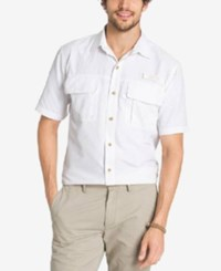 G.H. Bass And Co. Men's Performance Vented Short Sleeve Shirt Bright White