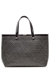 Victoria Beckham Simple Shopper Woven Leather Tote Multicolor