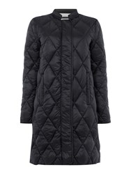 Part Two Stylish Soft Quilted Fabric Coat Black