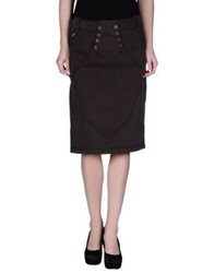 Gaetano Navarra Knee Length Skirts Dark Brown