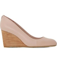 Dune Anisa Leather Wedge Courts Blush Leather