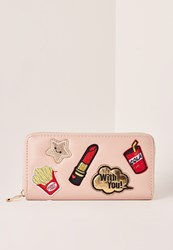 Missguided Badge Purse Pink