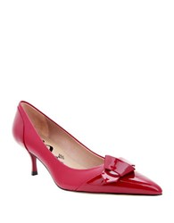 Nina Prezley Pointed Cap Toe Leather Fire Red