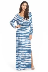 Betro Simone 'Sexy Shoulder' Maxi Dress Blue