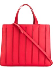 Max Mara Large 'Whitney' Tote Red
