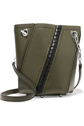 Proenza Schouler Hex Mini Paneled Leather Shoulder Bag Army Green