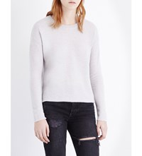 James Perse Round Neck Cashmere Jumper Pearl