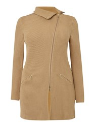 Persona Mila Wool Cashmere Long Sleeved Cardigan Camel