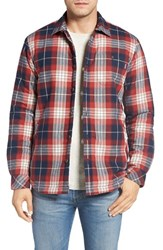 O'neill Men's Jack Crowne Lined Plaid Flannel Shirt Red Brick